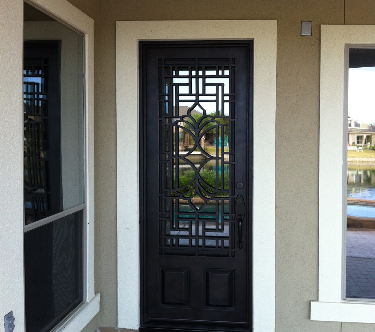 Custom Wrought Iron Single Doors in Lubbock Amarillo Midland ...